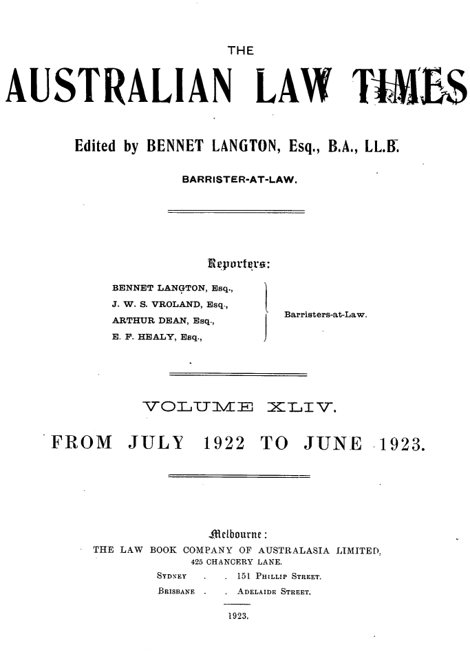 handle is hein.journals/ausianlati44 and id is 1 raw text is: THE