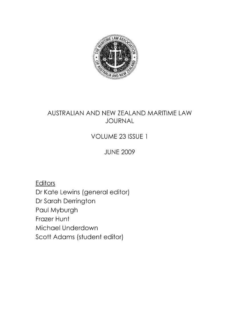 handle is hein.journals/ausnewma23 and id is 1 raw text is: 
