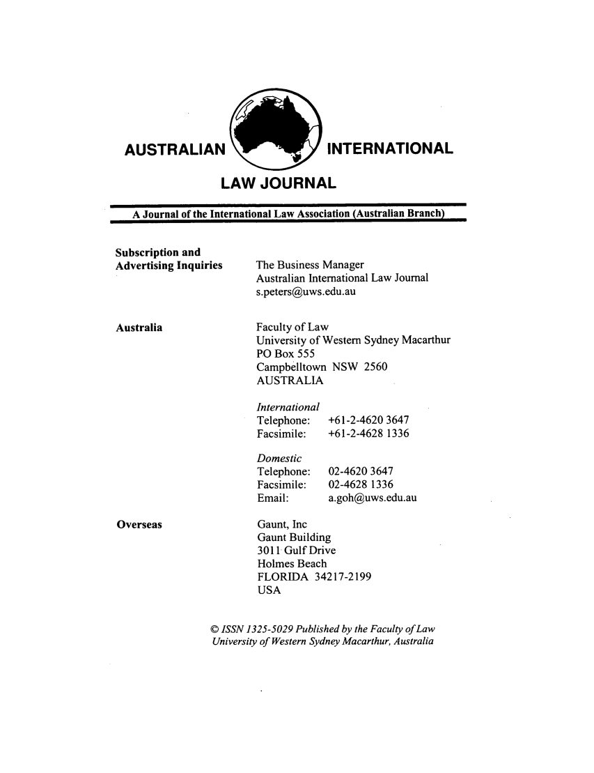 handle is hein.journals/austintlj16 and id is 1 raw text is: AUSTRALIAN