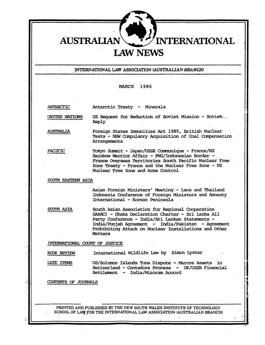 handle is hein.journals/austintlj4 and id is 1 raw text is: AUSTRALIAN                1 INTERNATIONAL