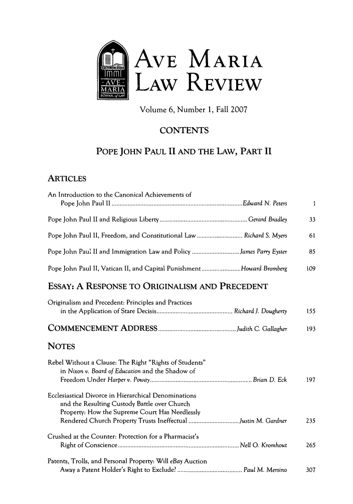 handle is hein.journals/avemar6 and id is 1 raw text is: AVE MARIA