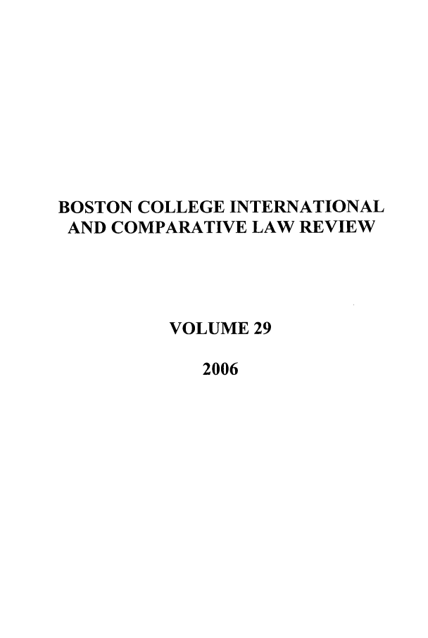 handle is hein.journals/bcic29 and id is 1 raw text is: BOSTON COLLEGE INTERNATIONAL