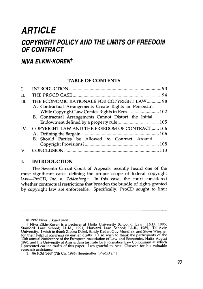 the limits of freedom of contract