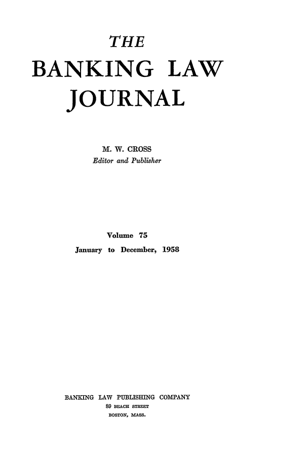 handle is hein.journals/blj75 and id is 1 raw text is: THE