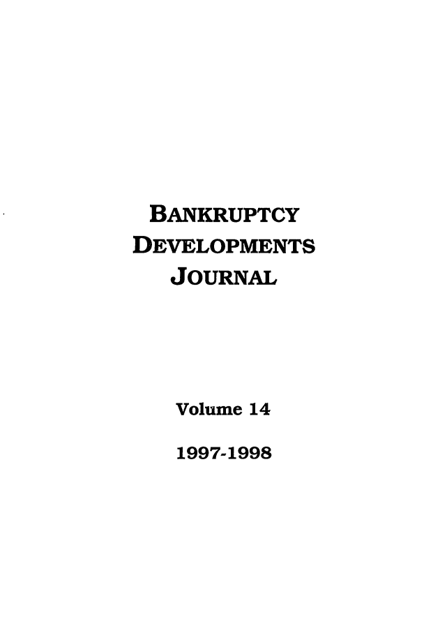 handle is hein.journals/bnkd14 and id is 1 raw text is: BANKRUPTCY