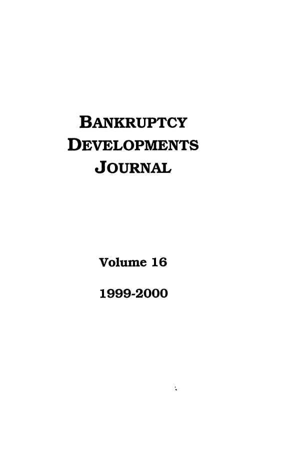 handle is hein.journals/bnkd16 and id is 1 raw text is: BANKRUPTCY
