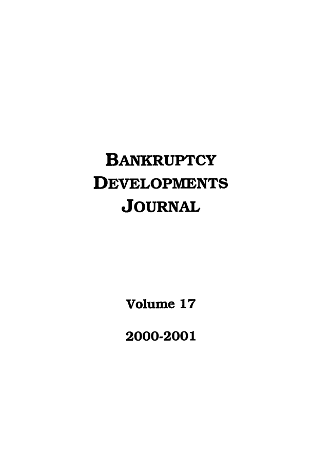 handle is hein.journals/bnkd17 and id is 1 raw text is: BANKRUPTCY