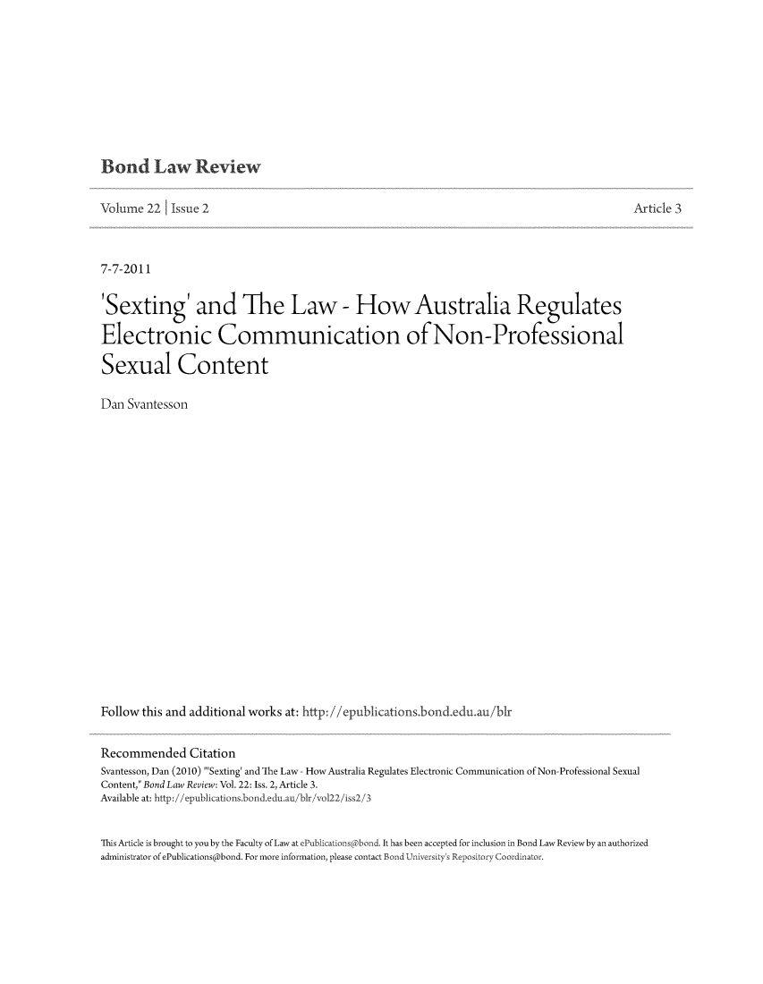 handle is hein.journals/bondlr22 and id is 152 raw text is: Bond Law Review