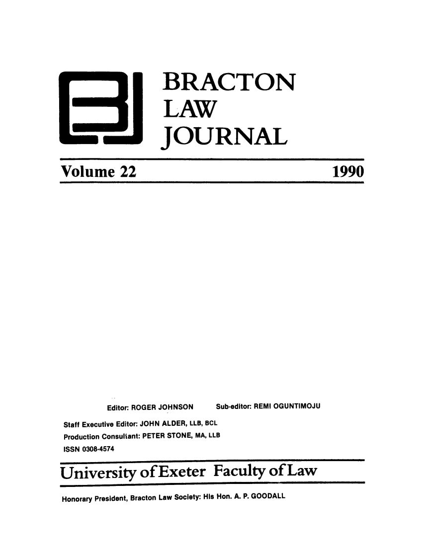 handle is hein.journals/braclj22 and id is 1 raw text is: BRACTON