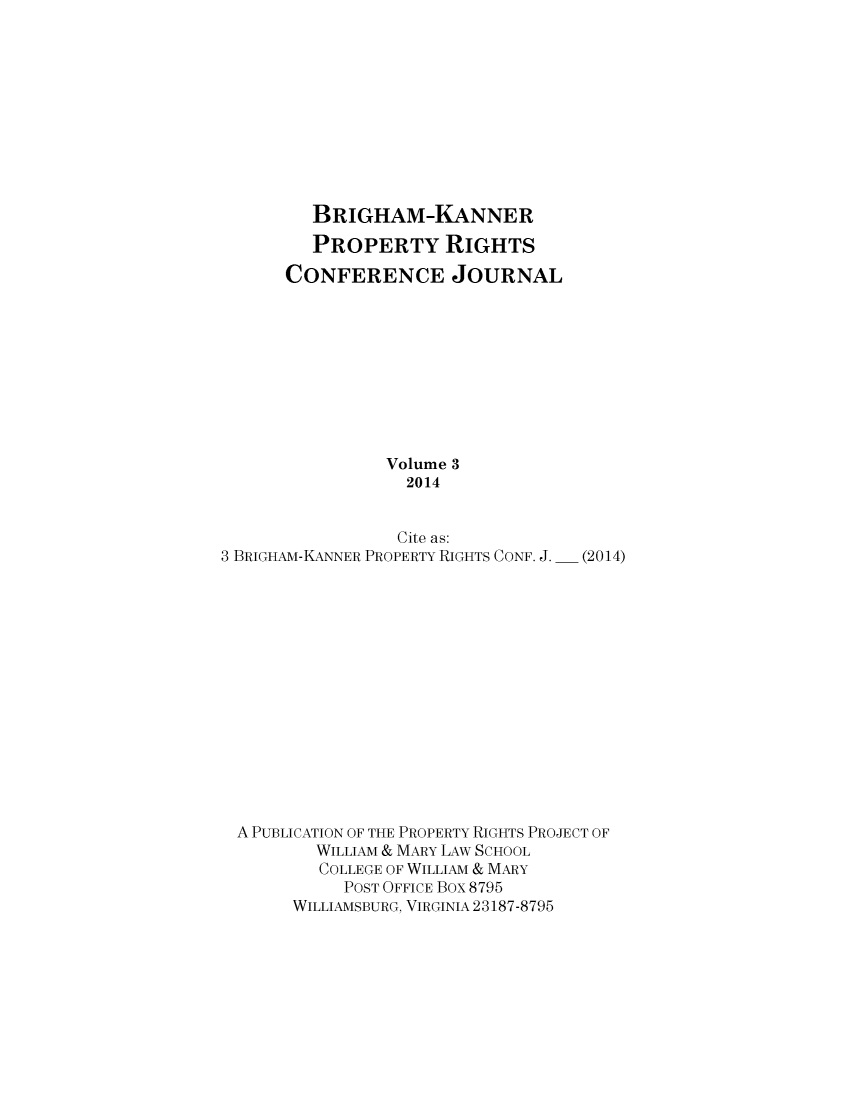 handle is hein.journals/brikanproco3 and id is 1 raw text is: BRIGHAM-KANNER