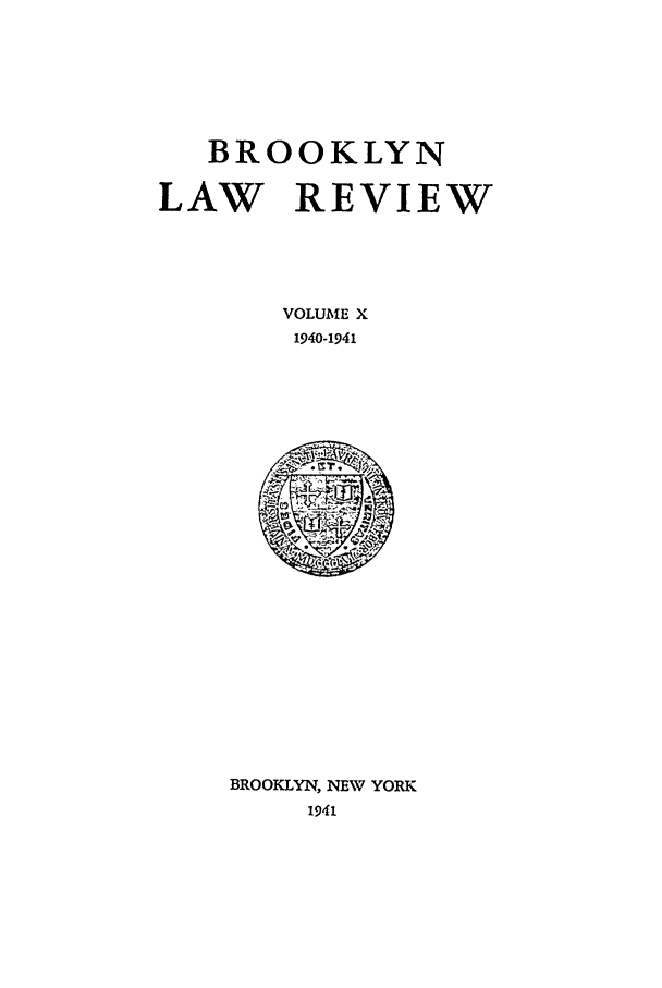handle is hein.journals/brklr10 and id is 1 raw text is: BROOKLYN