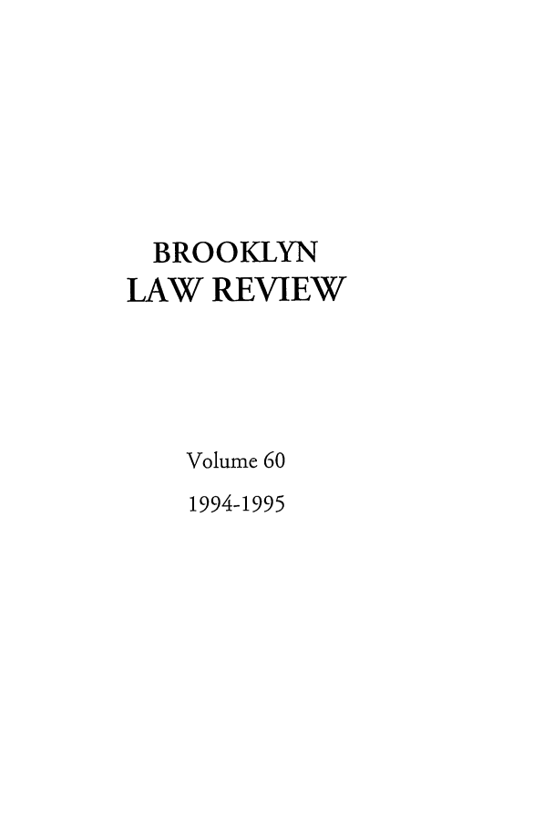 handle is hein.journals/brklr60 and id is 1 raw text is: BROOKLYN