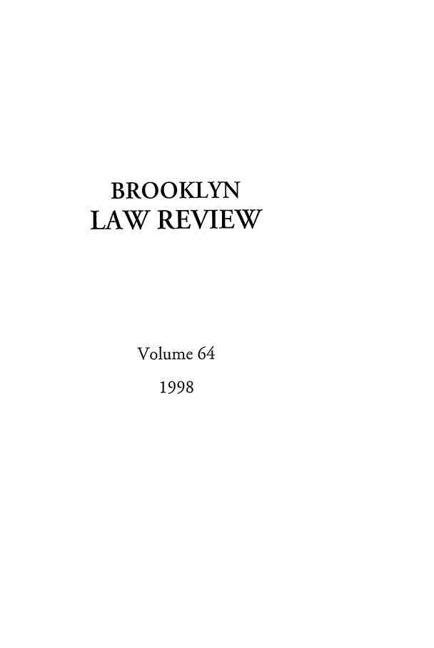 handle is hein.journals/brklr64 and id is 1 raw text is: BROOKLYN