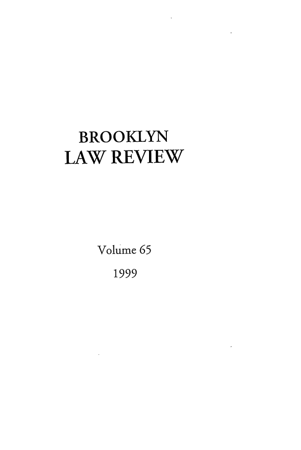 handle is hein.journals/brklr65 and id is 1 raw text is: BROOKLYN