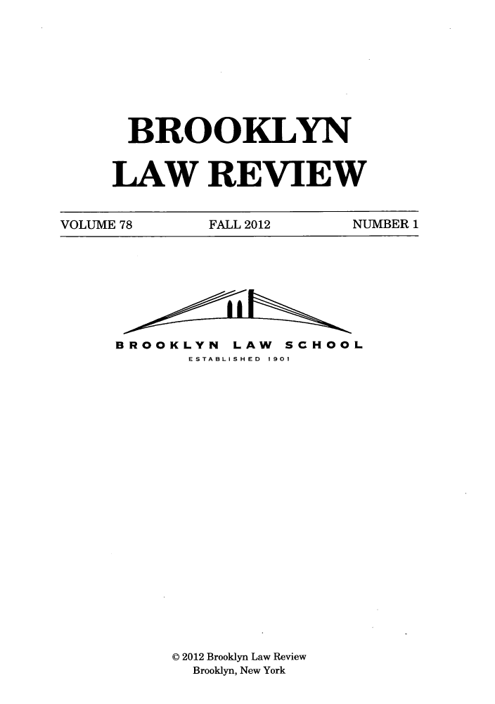 handle is hein.journals/brklr78 and id is 1 raw text is: BROOKLYN