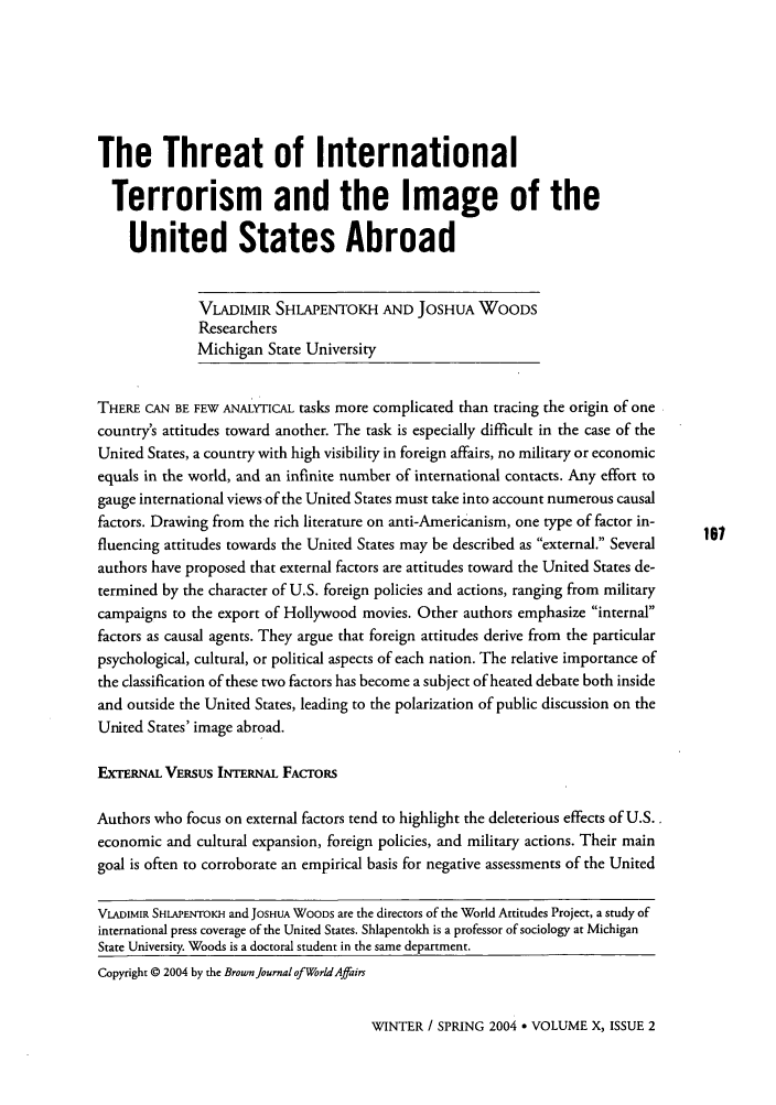 handle is hein.journals/brownjwa10 and id is 455 raw text is: The Threat of International