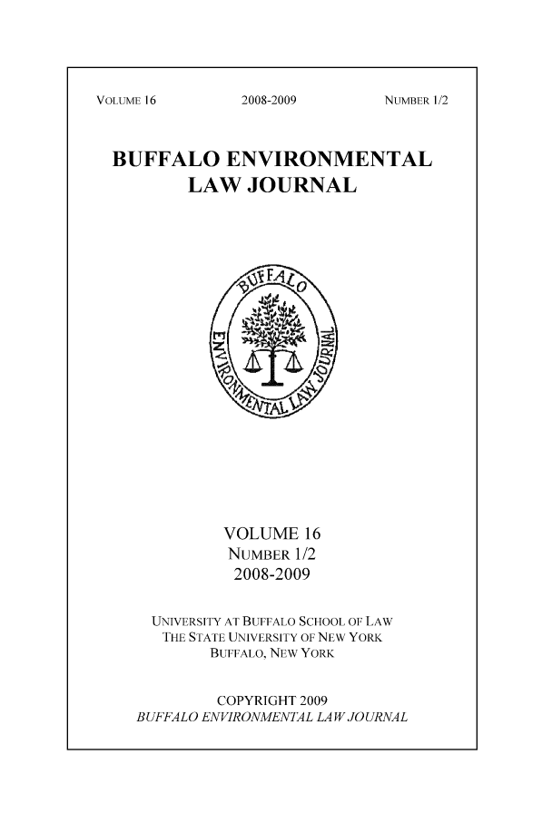 handle is hein.journals/bufev16 and id is 1 raw text is: NUMBER 1/2