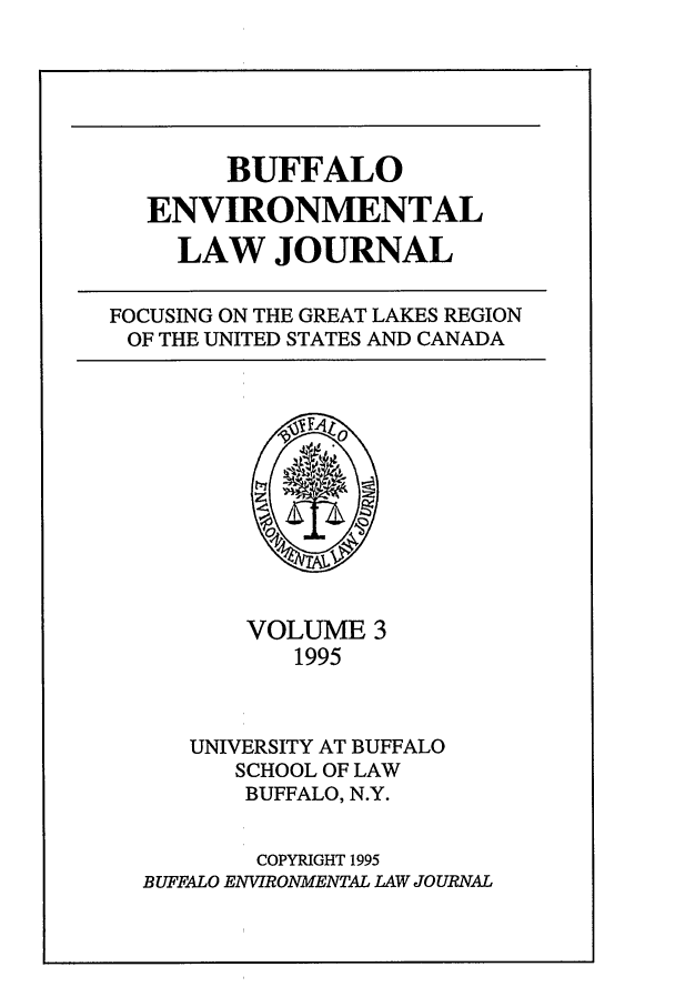 handle is hein.journals/bufev3 and id is 1 raw text is: BUFFALO