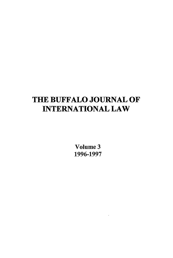 handle is hein.journals/bufhr3 and id is 1 raw text is: THE BUFFALO JOURNAL OF