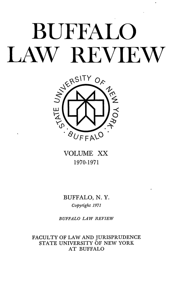 handle is hein.journals/buflr20 and id is 1 raw text is: BUFFALO