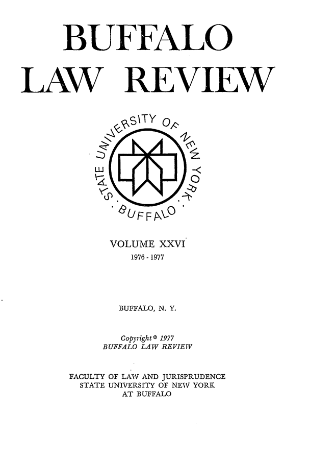 handle is hein.journals/buflr26 and id is 1 raw text is: BUFFALO