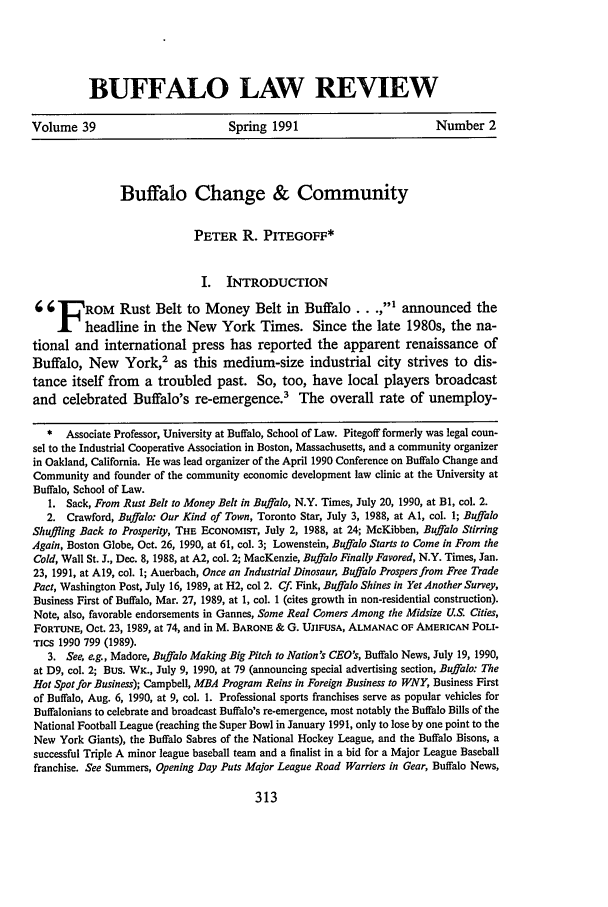 handle is hein.journals/buflr39 and id is 321 raw text is: BUFFALO LAW REVIEW