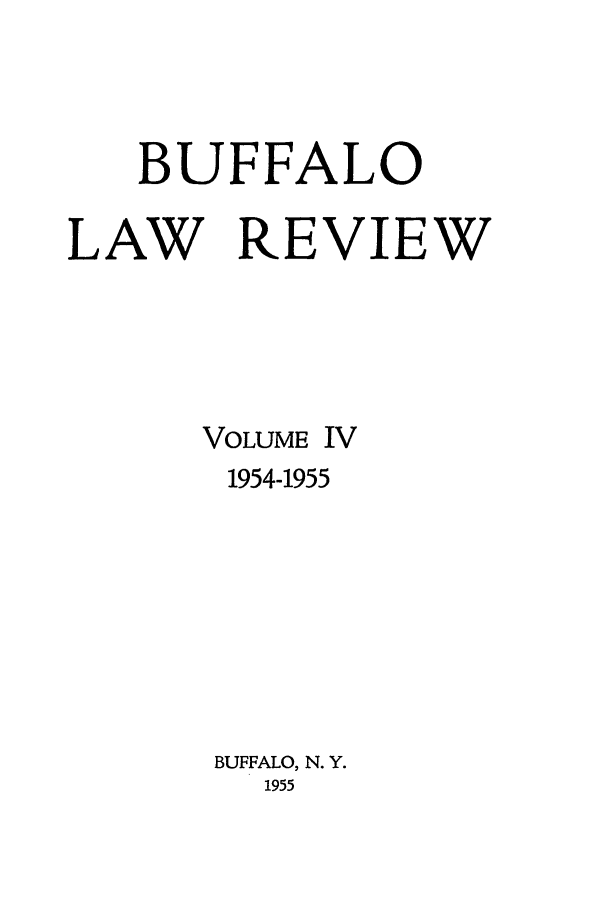 handle is hein.journals/buflr4 and id is 1 raw text is: BUFFALO