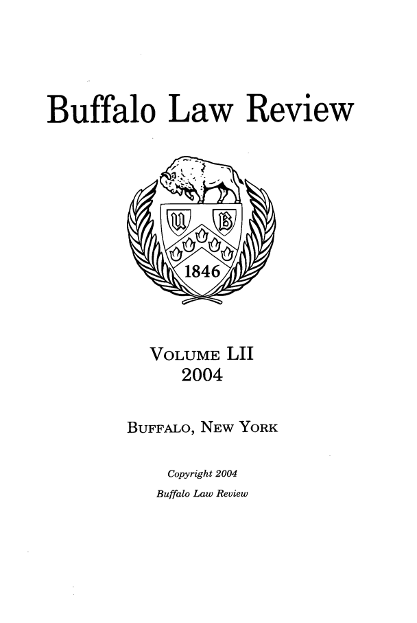 handle is hein.journals/buflr52 and id is 1 raw text is: Buffalo Law Review