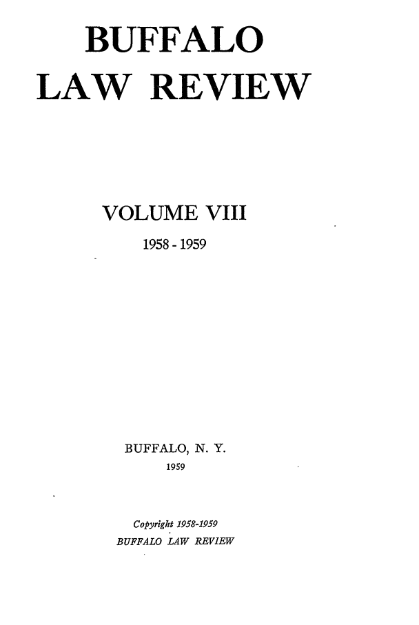 handle is hein.journals/buflr8 and id is 1 raw text is: BUFFALO