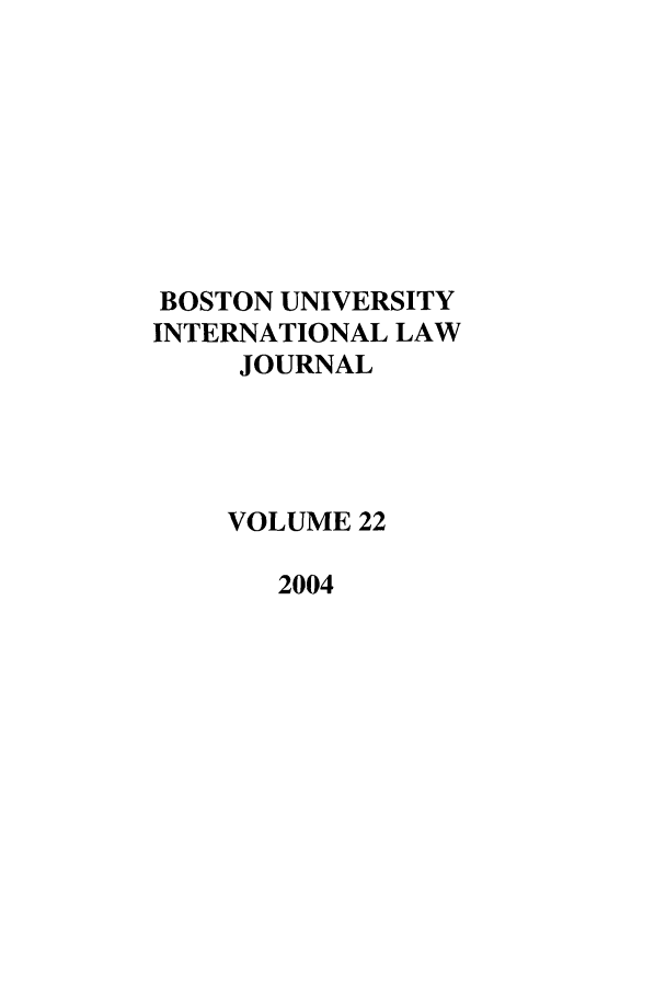 handle is hein.journals/builj22 and id is 1 raw text is: BOSTON UNIVERSITY