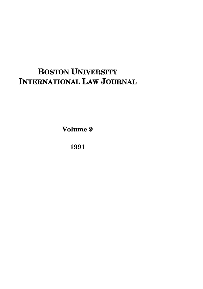 handle is hein.journals/builj9 and id is 1 raw text is: BOSTON UNIVERSITY