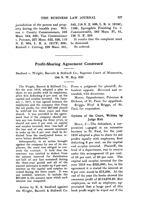 Profit Sharing Agreement Construed Current Business Decisions 2