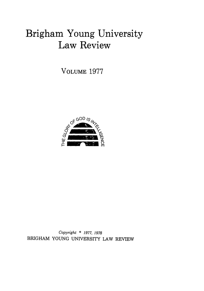 handle is hein.journals/byulr1977 and id is 1 raw text is: Brigham Young University