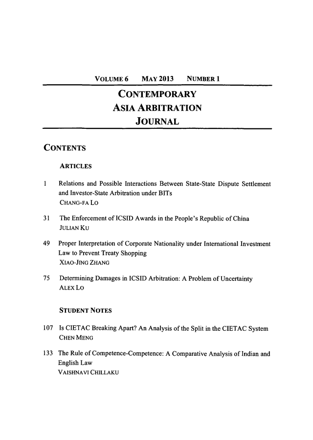 handle is hein.journals/caaj6 and id is 1 raw text is: VOLUME 6      MAY 2013     NUMBER 1