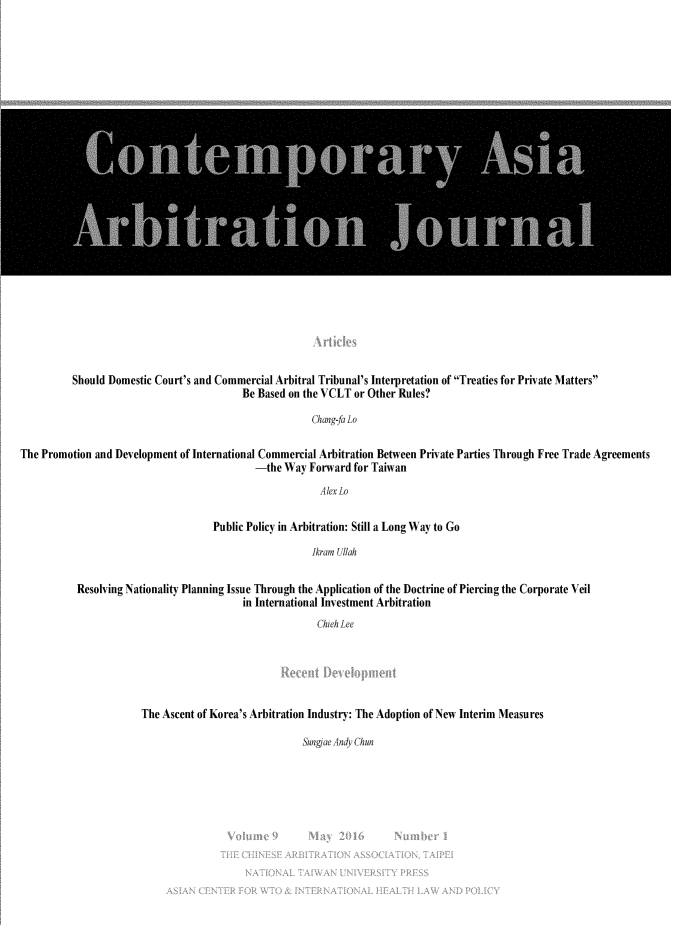 handle is hein.journals/caaj9 and id is 1 raw text is: 