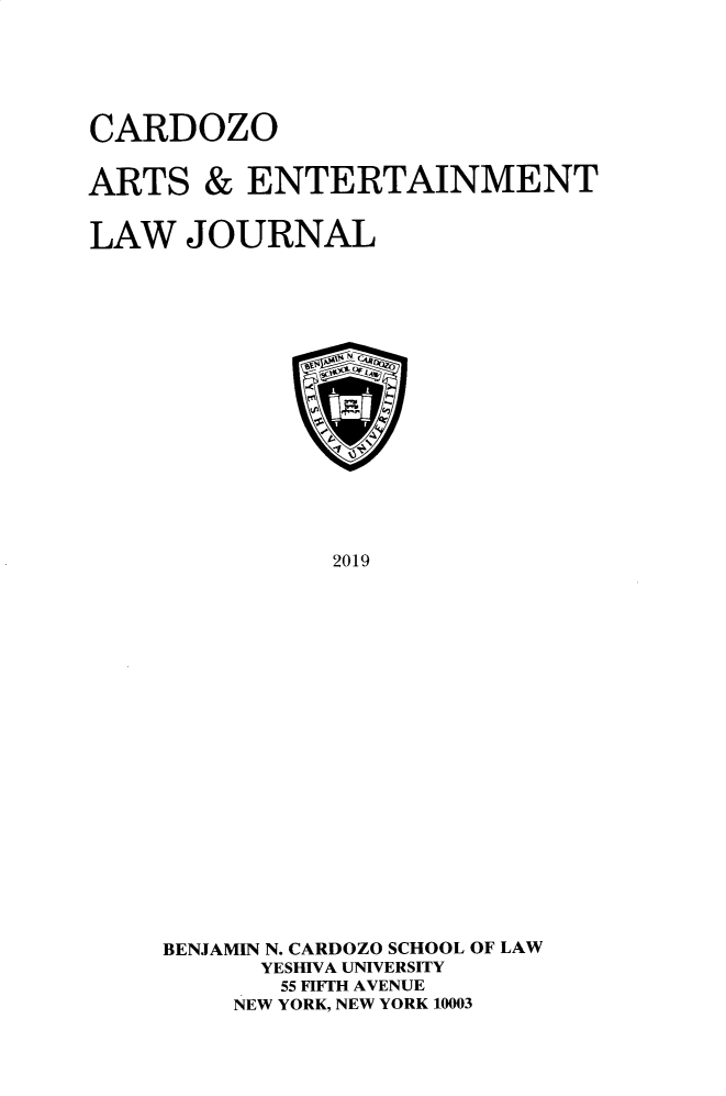 handle is hein.journals/caelj37 and id is 1 raw text is: 