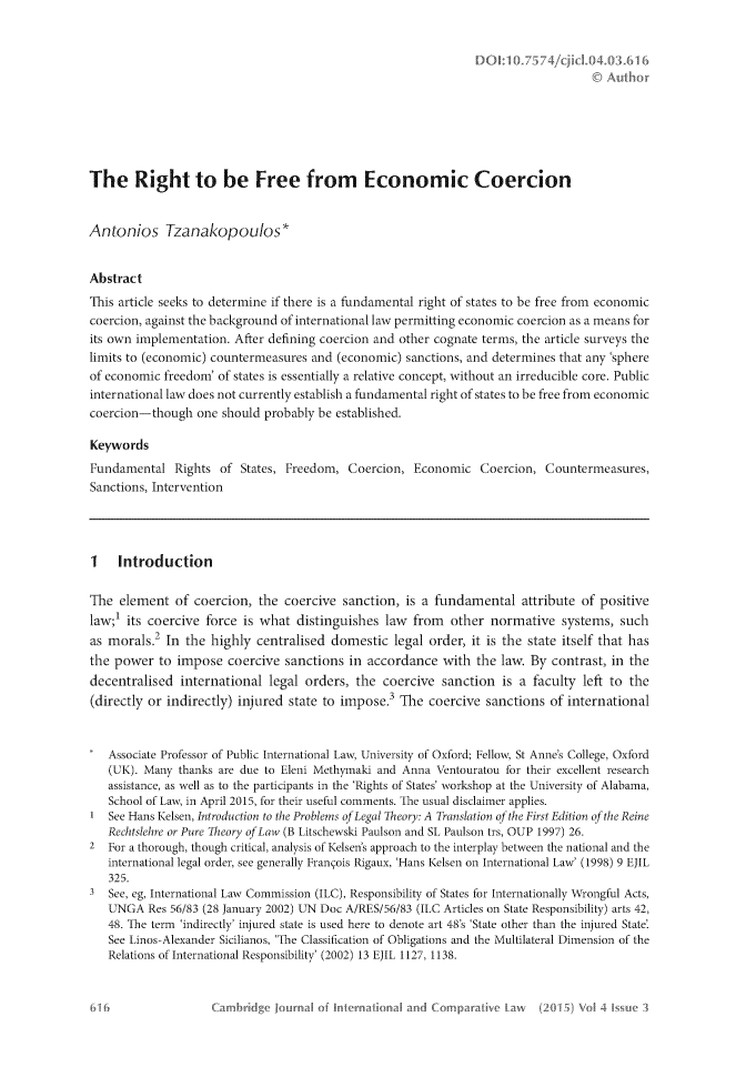 The Right to Be Free from Economic Coercion II  Case Studies 4