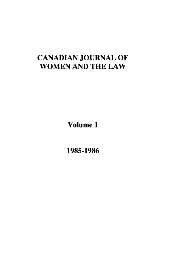 handle is hein.journals/cajwol1 and id is 1 raw text is: CANADIAN JOURNAL OF