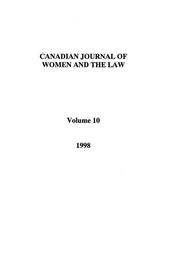 handle is hein.journals/cajwol10 and id is 1 raw text is: CANADIAN JOURNAL OF