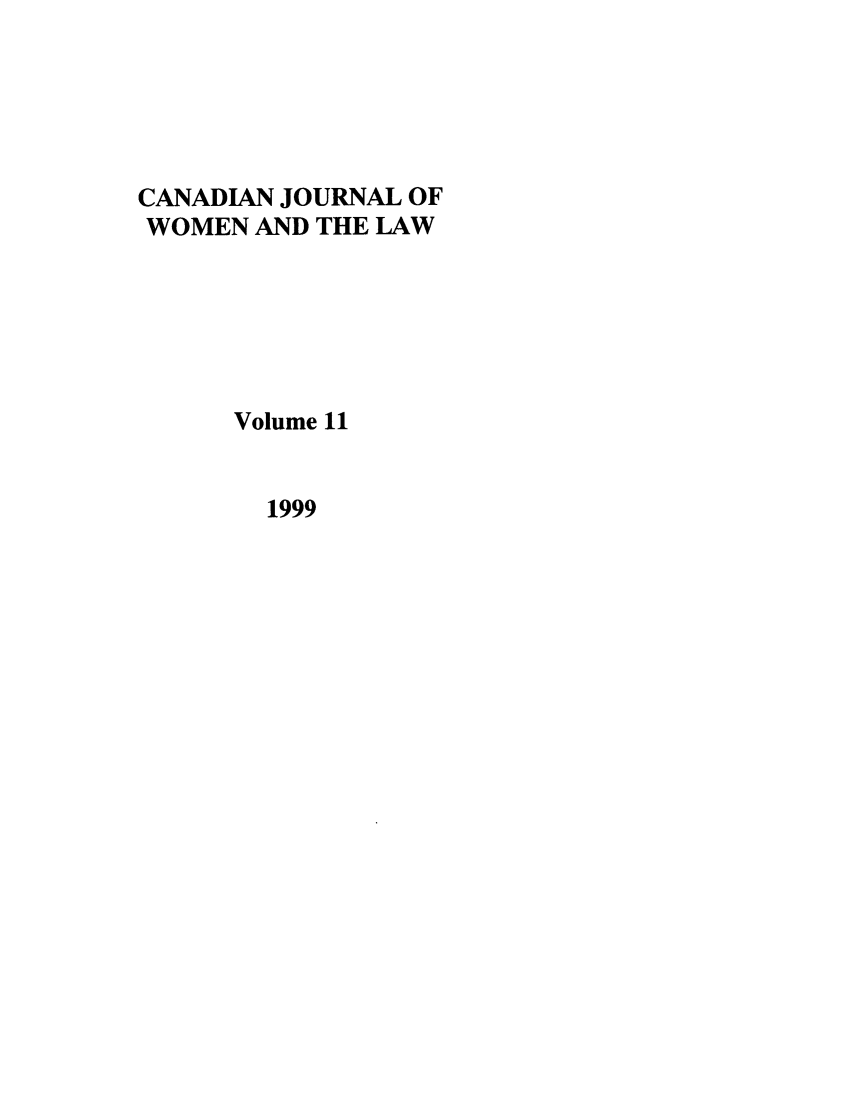handle is hein.journals/cajwol11 and id is 1 raw text is: CANADIAN JOURNAL OF