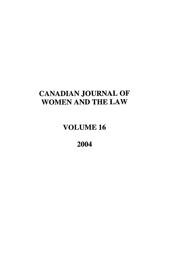 handle is hein.journals/cajwol16 and id is 1 raw text is: CANADIAN JOURNAL OF