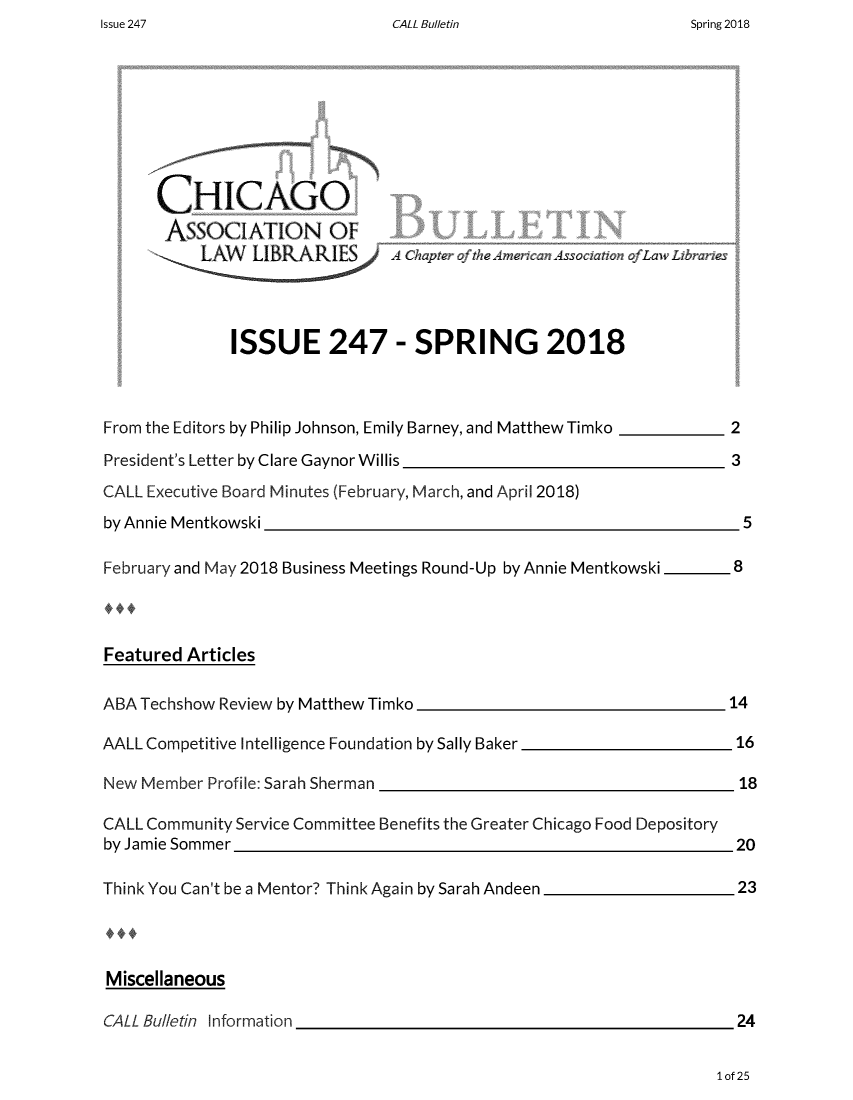 handle is hein.journals/callbu247 and id is 1 raw text is: CALL Bulletin