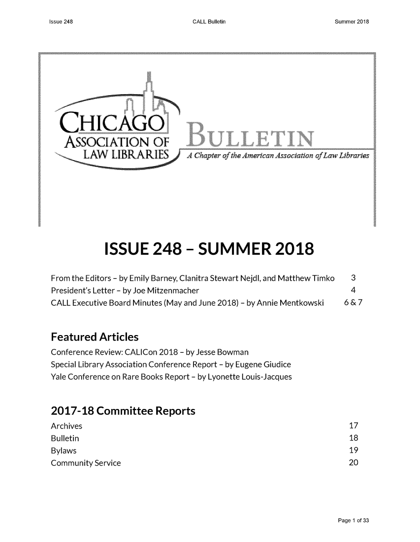 handle is hein.journals/callbu248 and id is 1 raw text is: 