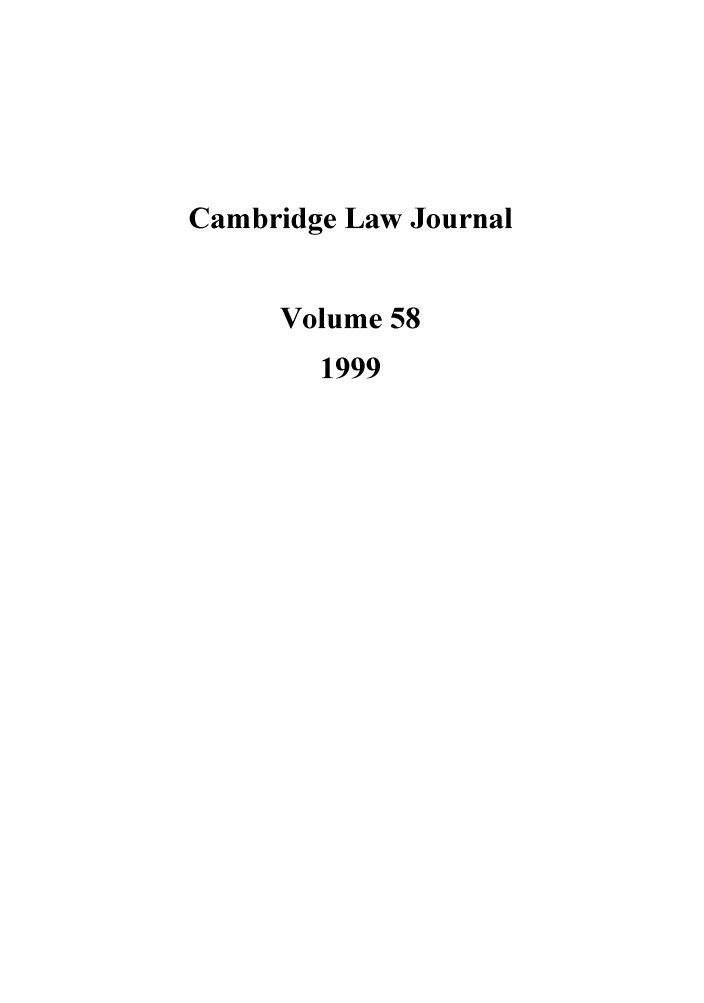 handle is hein.journals/camblj58 and id is 1 raw text is: Cambridge Law Journal