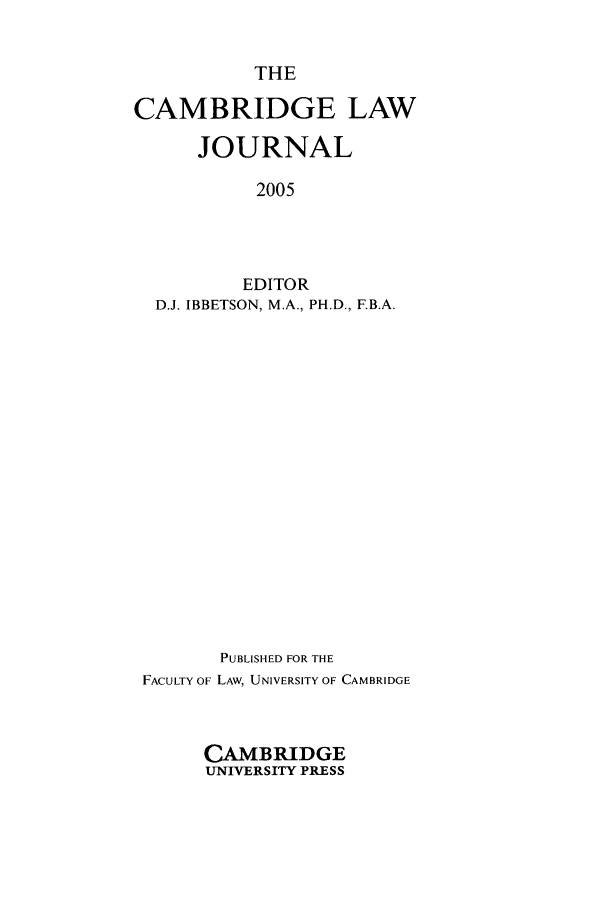 handle is hein.journals/camblj64 and id is 1 raw text is: THE