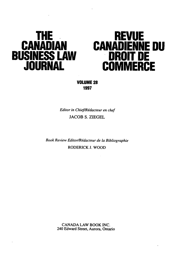 handle is hein.journals/canadbus28 and id is 1 raw text is: THE                           REVUE