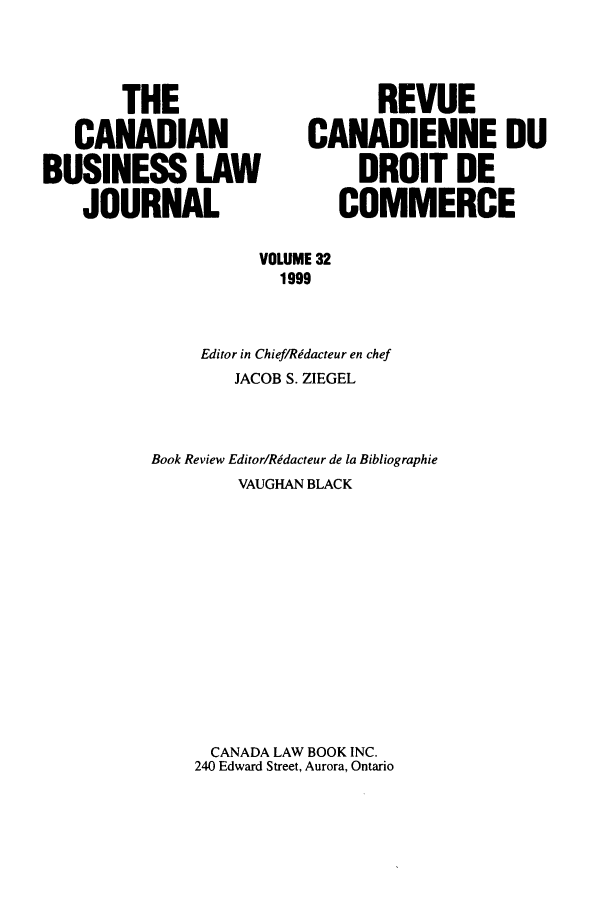 handle is hein.journals/canadbus32 and id is 1 raw text is: THE