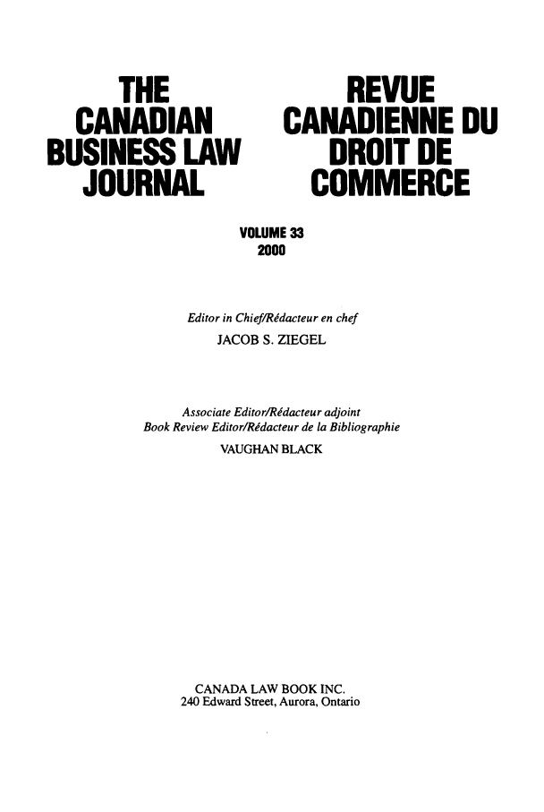 handle is hein.journals/canadbus33 and id is 1 raw text is: THE                          REVUE