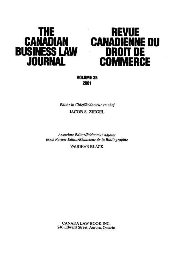 handle is hein.journals/canadbus35 and id is 1 raw text is: THE                           REVUE