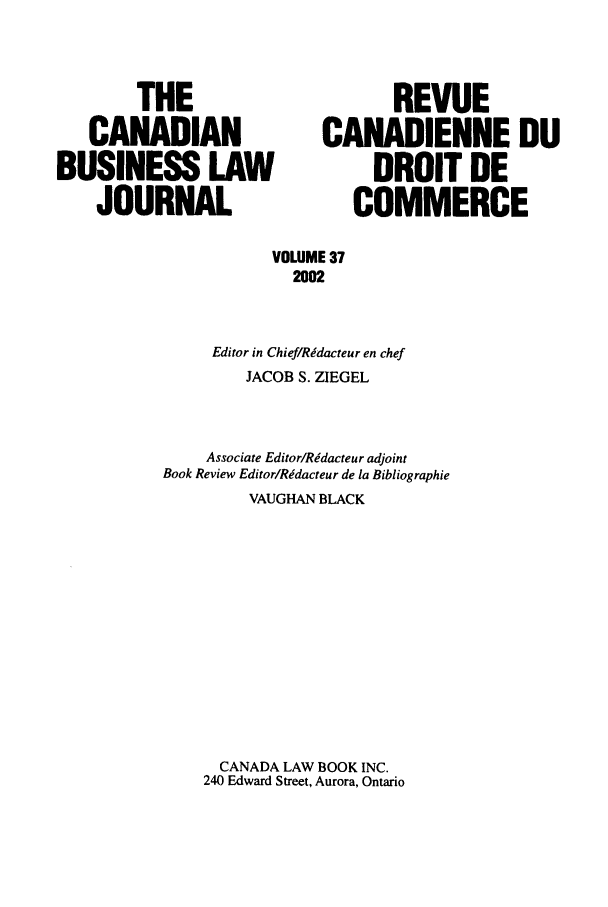handle is hein.journals/canadbus37 and id is 1 raw text is: THE                          REVUE